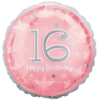 16th Birthday Foil Balloons overview