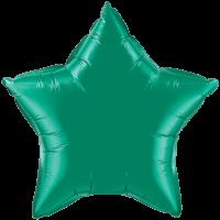 "20"" Custom Printed Emerald Green Star Foil Balloons"