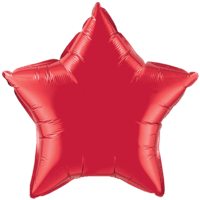 "20"" Custom Printed Ruby Red Star Foil Balloons"