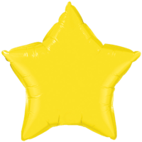 "20"" Custom Printed Yellow Star Foil Balloons"