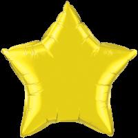"20"" Custom Printed Citrine Yellow Star Foil Balloons"