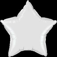 """20"""" Custom Printed White Star Foil Balloons"""
