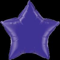 "20"" Custom Printed Quartz Purple Star Foil Balloons"