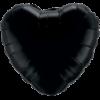 "18"" Custom Printed Onyx Black Heart Foil Balloons overview"