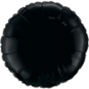 "18"" Custom Printed Onyx Black Round Foil Balloons overview"