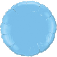 """18"""" Custom Printed Pale Blue Round Foil Balloons"""