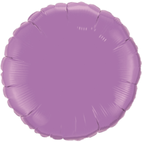 """18"""" Custom Printed Spring Lilac Round Foil Balloons"""
