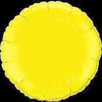 "18"" Custom Printed Yellow Round Foil Balloons"