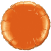 "18"" Custom Printed Orange Round Foil Balloons overview"