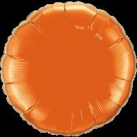 "18"" Custom Printed Orange Round Foil Balloons"