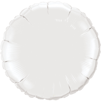 "18"" Custom Printed White Round Foil Balloons"