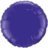 "18"" Custom Printed Quartz Purple Round Foil Balloons overview"