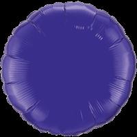 """18"""" Custom Printed Quartz Purple Round Foil Balloons"""