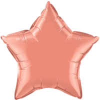 "20"" Custom Printed Coral Star Foil Balloons"