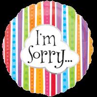 "18"" I'm Sorry Colourful Balloon"