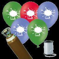 200 Printed Latex Balloons Pack