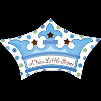 "18"" Little Prince Crown Foil Balloon"