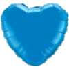 """18"""" Custom Printed Sapphire Blue Heart Foil Balloons overview"""