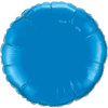 "18"" Custom Printed Sapphire Blue Round Foil Balloons overview"