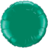 "18"" Custom Printed Emerald Green Round Foil Balloons overview"