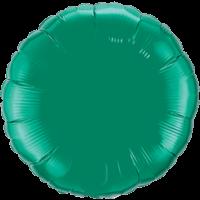 "18"" Custom Printed Emerald Green Round Foil Balloons"
