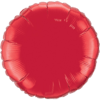 "18"" Custom Printed Ruby Red Round Foil Balloons overview"