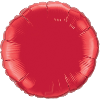 """18"""" Custom Printed Ruby Red Round Foil Balloons"""
