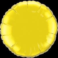 "18"" Custom Printed Citrine Yellow Round Foil Balloons"