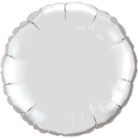 """18"""" Custom Printed Silver Round Foil Balloons"""