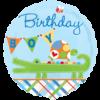 "18"" Alligator Birthday Boy Foil Balloon product link"