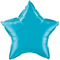 "20"" Custom Printed Turquoise Star Foil Balloons"