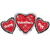 Happy Valentine's Day Trio Black, Silver & Re product link