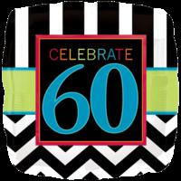 "18"" Celebrate 60th Balloon"