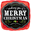"18"" Merry Christmas Chalkboard Square Foil Ba product link"
