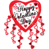 Happy Valentine Heart Streamers SuperShape product link