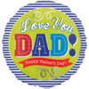 "18"" Fathers Day Blue Stripes Balloon overview"