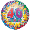 40th Birthday Foil Balloons overview
