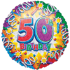 50th Birthday Foil Balloons overview