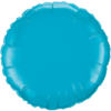 "18"" Custom Printed Turquoise Round Foil Balloons overview"