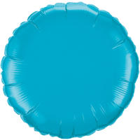 """18"""" Custom Printed Turquoise Round Foil Balloons"""