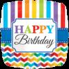 "18"" Happy Birthday Bright Stripe & Chevron St product link"