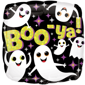 "18"" Boo-ya Ghosts Standard Foil Balloon Product Display"