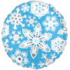 "18"" Blue & White Frosty Snowflakes Standard F product link"