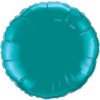 "18"" Custom Printed Teal Round Foil Balloons overview"