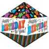 "21"" Stripes & Stars Happy Birthday Anglez Foi product link"