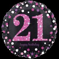"18"" Prismatic 21st Pink Celebration"