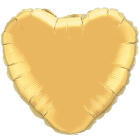 "18"" Custom Printed Metallic Gold Heart Foil Balloons"