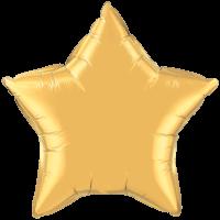"20"" Custom Printed Metallic Gold Star Foil Balloons"