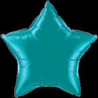 "20"" Custom Printed Teal Star Foil Balloons"
