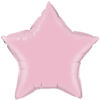 "20"" Custom Printed Pearl Pink Star Foil Balloons"